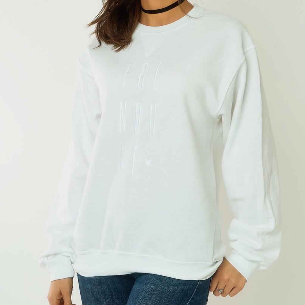 WTFrenchie Monochrome Sweatshirt Front