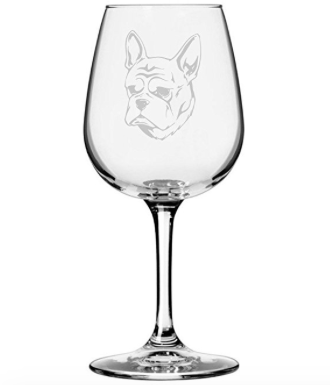 french bulldog glass