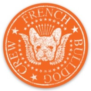 French Bulldog Crew Sticker