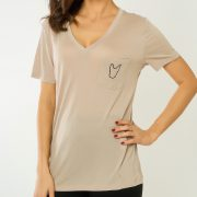 WTFrenchie London V-neck Pocket Tee Front