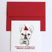 Sketch Frenchie Holiday Card