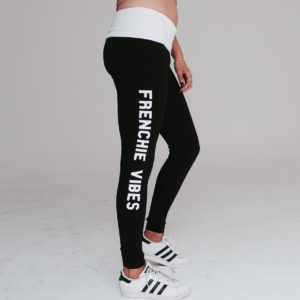 Frenchie Vibes Black Leggings